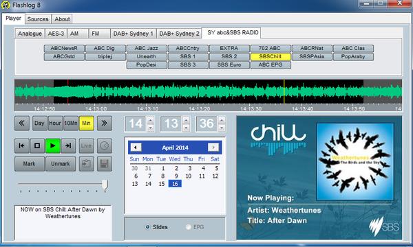 Flashlog Software Screen