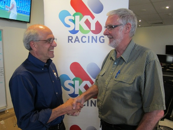 Nautel's Asia Pacific Regional Manager John Abdnour with Max Carter, Chief Engineer Sky Sports Radio