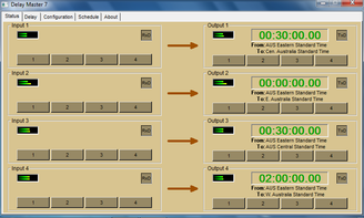 Delay Master 7 Delay System Screen