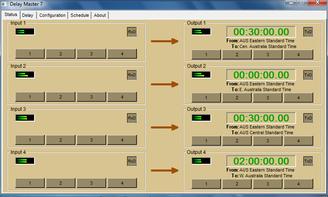 Delay Master 7 Delay System Screen