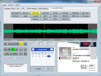 Flashlog 8 Broadcast Audio logger Screen