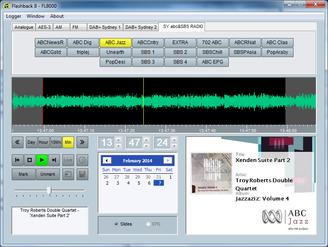 Flashlog 8 Broadcast Audio logger Screen
